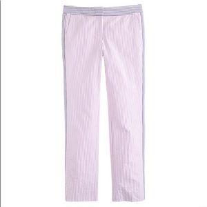 J. Crew Seersucker Cropped Pants